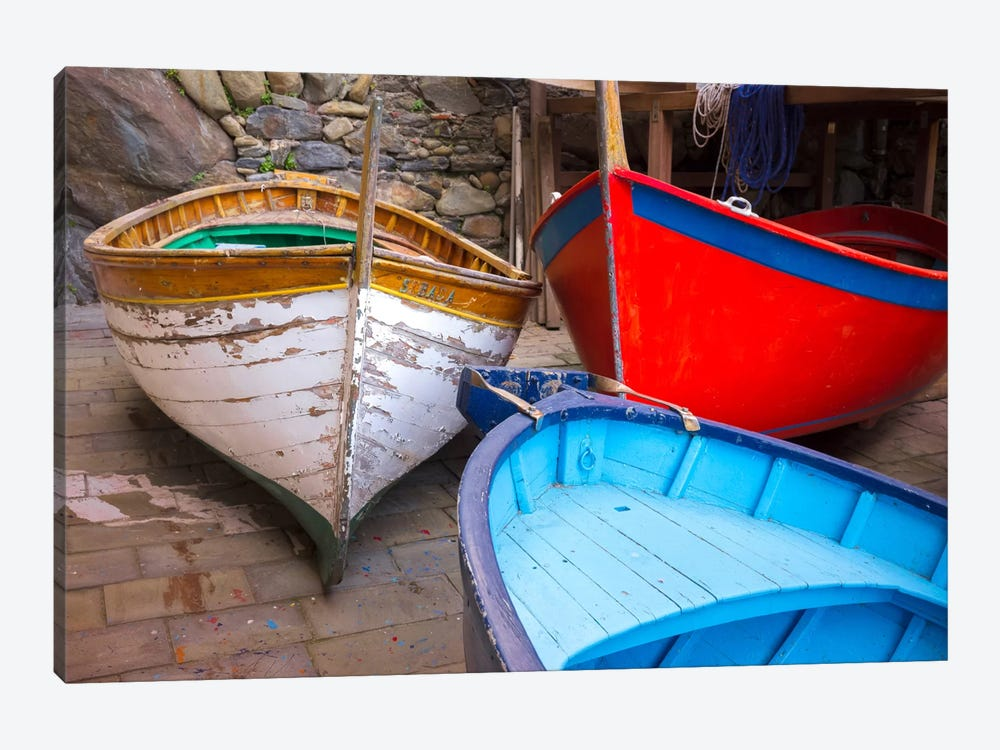 In Storage, Cinque Terre, Italy by Jim Nilsen 1-piece Canvas Print