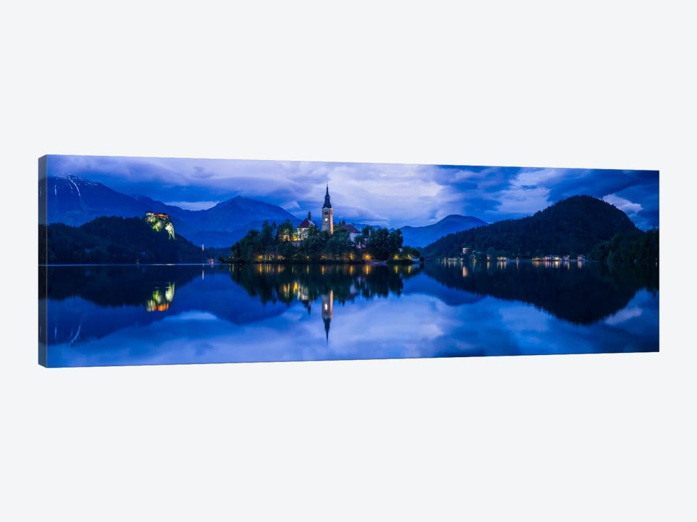 Lake Bled Blue, Bled, Slovenia by Jim Nilsen 1-piece Canvas Art Print