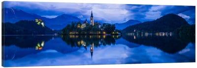 Lake Bled Blue, Bled, Slovenia Canvas Art Print