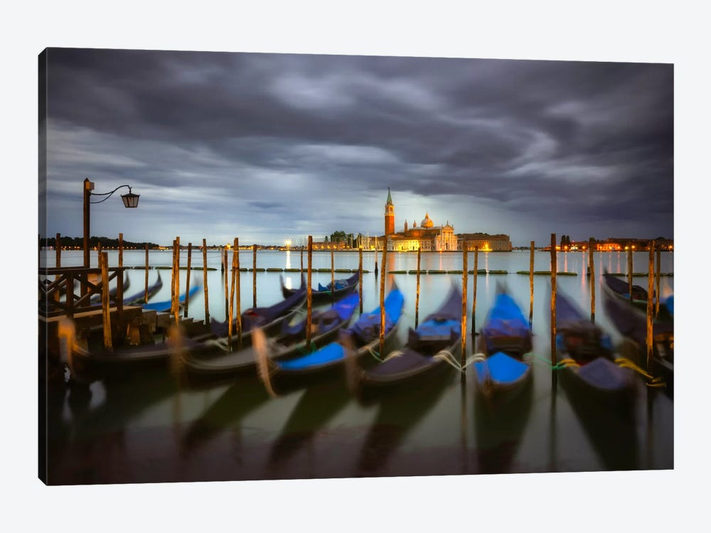 A Quiet Moment, Venice, Italy by Jim Nilsen 1-piece Canvas Wall Art