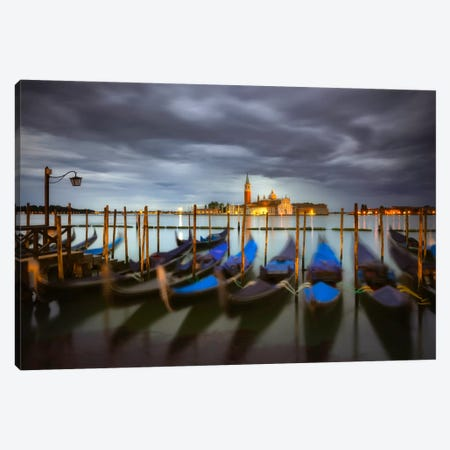 A Quiet Moment, Venice, Italy 3-Piece Canvas #NIL2} by Jim Nilsen Canvas Art Print