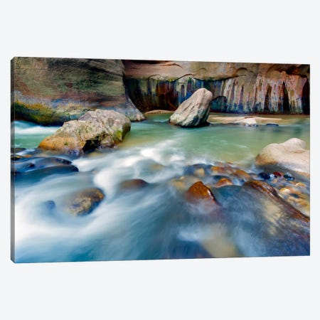 Leviathan Rising, Virgin River, Zion National Park, Utah Canvas Print #NIL32} by Jim Nilsen Canvas Print