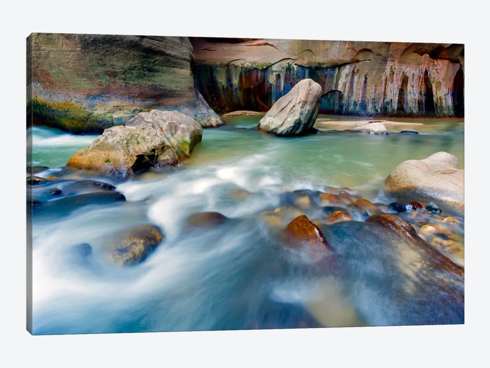 Leviathan Rising, Virgin River, Zion National Park, Utah by Jim Nilsen 1-piece Canvas Art Print