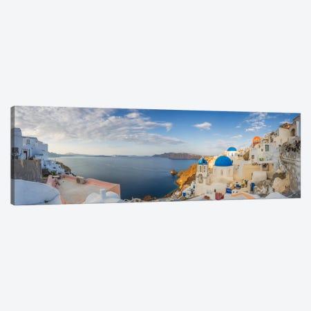 Oia Sunrise, Santorini, Greece I 3-Piece Canvas #NIL38} by Jim Nilsen Canvas Print