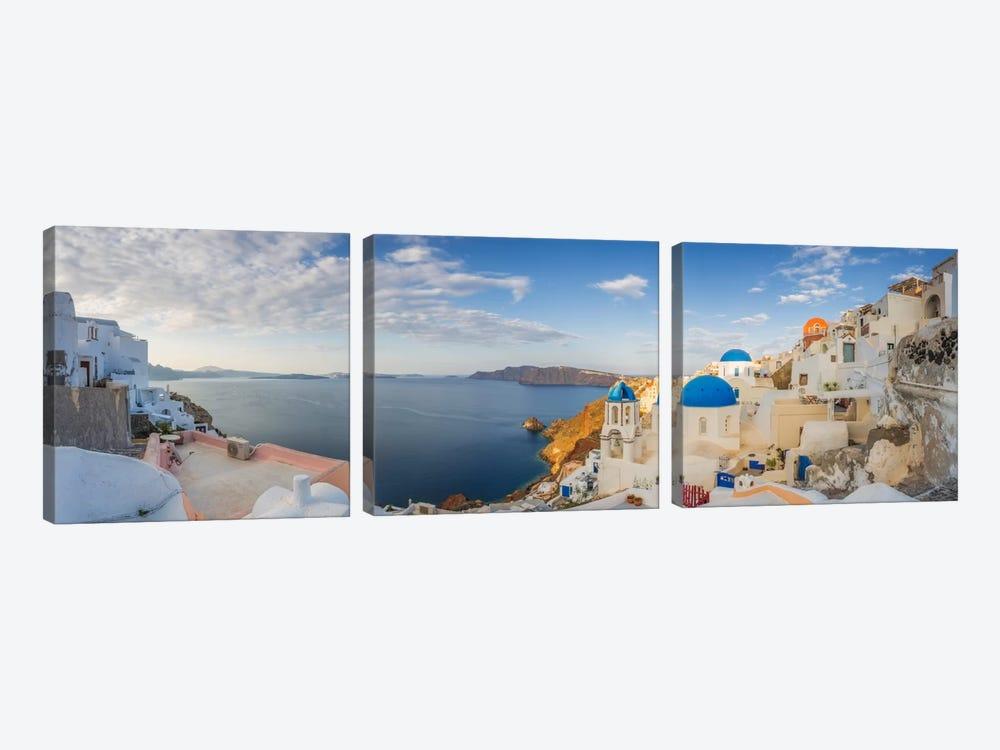 Oia Sunrise, Santorini, Greece I by Jim Nilsen 3-piece Canvas Art Print