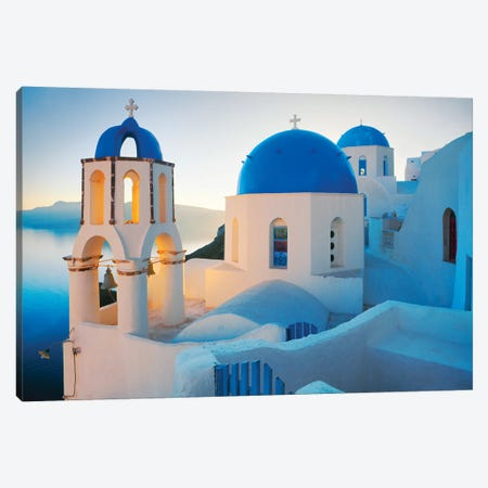 Oia Sunrise, Santorini, Greece II Canvas Print #NIL39} by Jim Nilsen Art Print