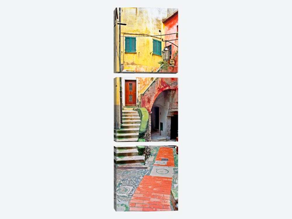 Rustic Tellaro, Tellaro, Italy I by Jim Nilsen 3-piece Canvas Art