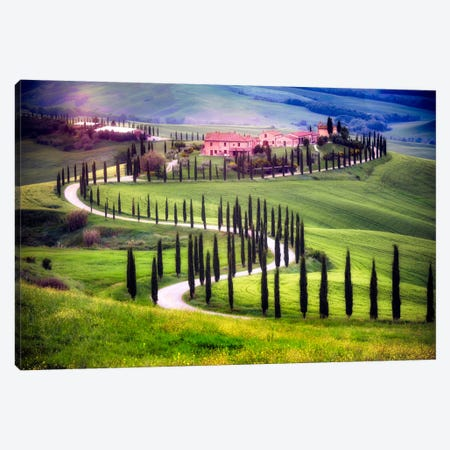 Somewhere In Tuscany, Tuscany, Italy Canvas Print #NIL52} by Jim Nilsen Canvas Art Print