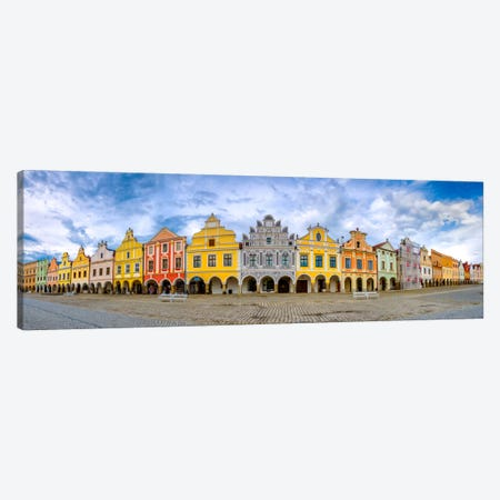 Telc Panorama, Telc, Czech Republic Canvas Print #NIL55} by Jim Nilsen Canvas Wall Art