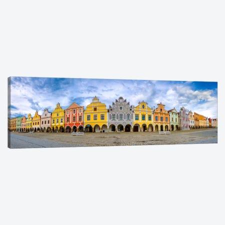 Telc Panorama, Telc, Czech Republic Canvas Print #NIL55} by Jim Nilsen Canvas Wall Art