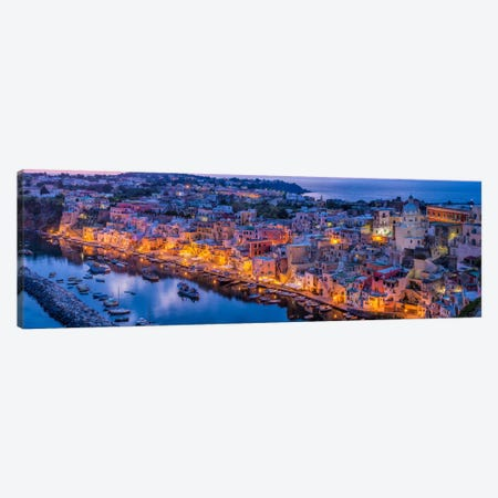 The Blue Hour On Procida, Procida, Italy Canvas Print #NIL60} by Jim Nilsen Canvas Artwork