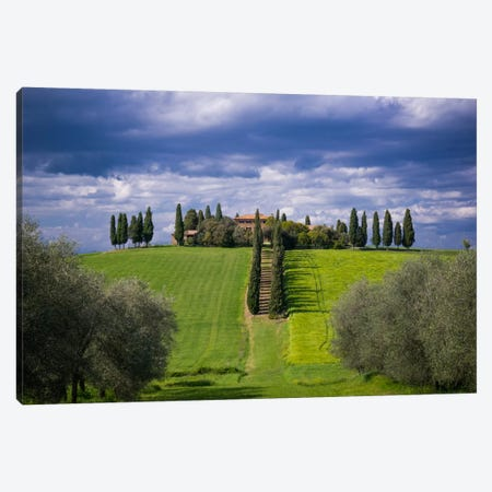 The Way Home, Tuscany, Italy Canvas Print #NIL64} by Jim Nilsen Canvas Art Print