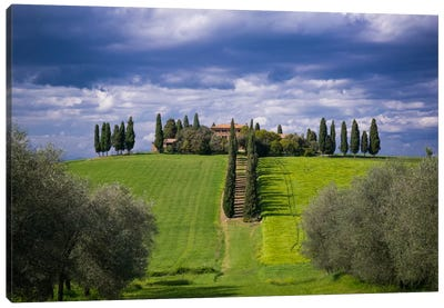 The Way Home, Tuscany, Italy Canvas Art Print