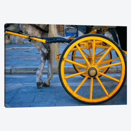 The Yellow Wheel, Seville, Spain Canvas Print #NIL65} by Jim Nilsen Canvas Art Print