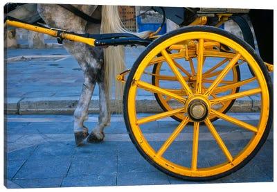 The Yellow Wheel, Seville, Spain Canvas Art Print
