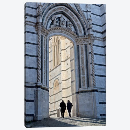 Time For Pranzo, Siena, Italy Canvas Print #NIL66} by Jim Nilsen Art Print