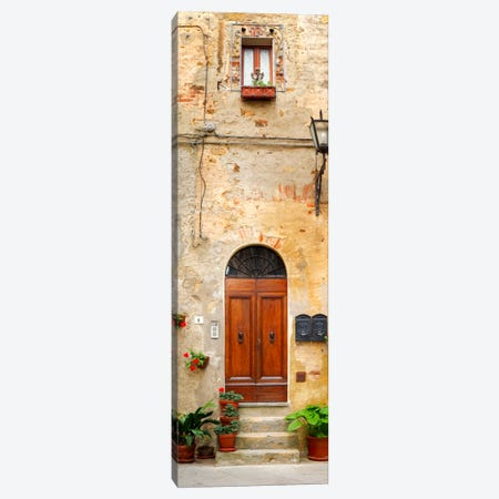Welcome, Pienza, Italy Canvas Print #NIL75} by Jim Nilsen Canvas Art