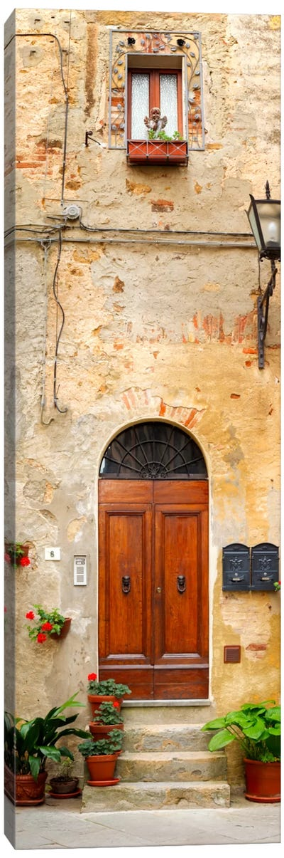 Welcome, Pienza, Italy Canvas Art Print