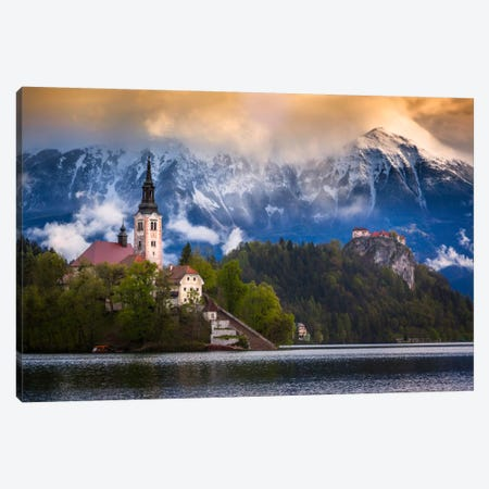 Winter's Last Stand, Bled, Slovenia Canvas Print #NIL78} by Jim Nilsen Canvas Print
