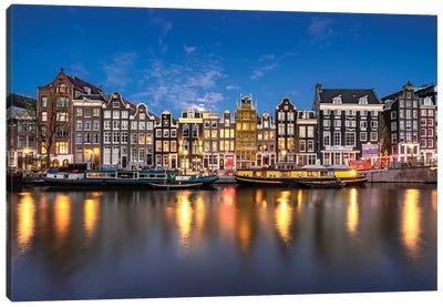 Along The Canal, Amsterdam Canvas Art Print