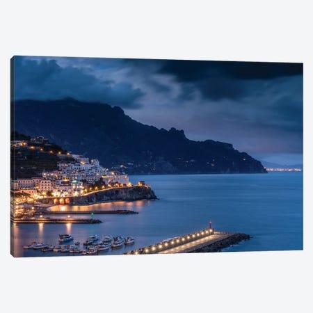 Amalfi Evening, Amalfi, Italy Canvas Print #NIL87} by Jim Nilsen Canvas Print