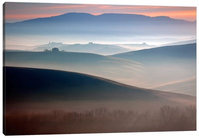 Bella Val D' Orcia, Tuscany, Italy Canvas Art Print