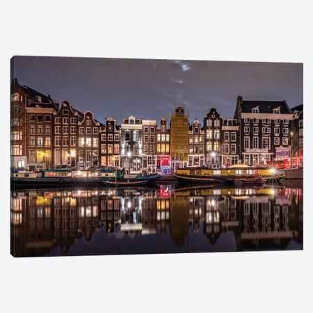 Amsterdam Evening, Amsterdam, The Netherlands Canvas Print #NIL90} by Jim Nilsen Canvas Art Print