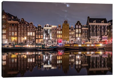 Amsterdam Evening, Amsterdam, The Netherlands Canvas Art Print