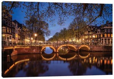 Amsterdam Lights, Amsterdam, The Netherlands Canvas Art Print