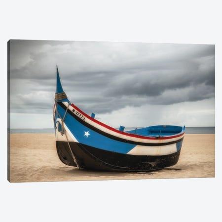 Beached, Nazare, Portugal Canvas Print #NIL93} by Jim Nilsen Art Print