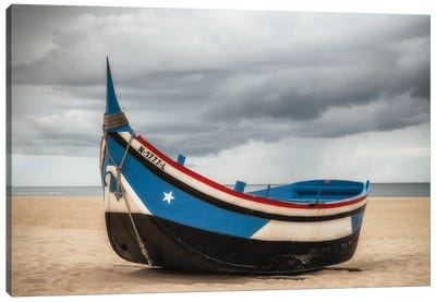 Beached, Nazare, Portugal Canvas Art Print