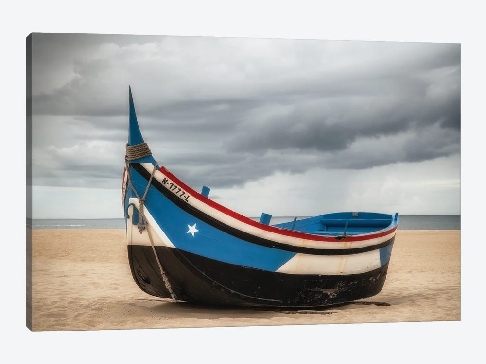 Beached, Nazare, Portugal by Jim Nilsen 1-piece Canvas Art