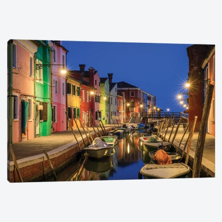 Burano Blue, Burano, Italy Canvas Print #NIL97} by Jim Nilsen Canvas Artwork
