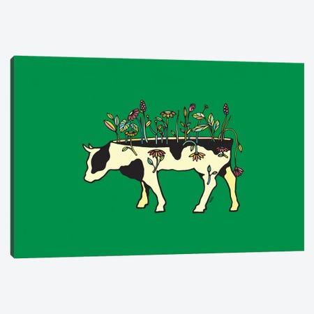 Cow Me Vegan Canvas Print #NIN101} by Ninhol Canvas Wall Art