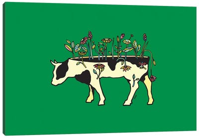 Cow Me Vegan Canvas Art Print