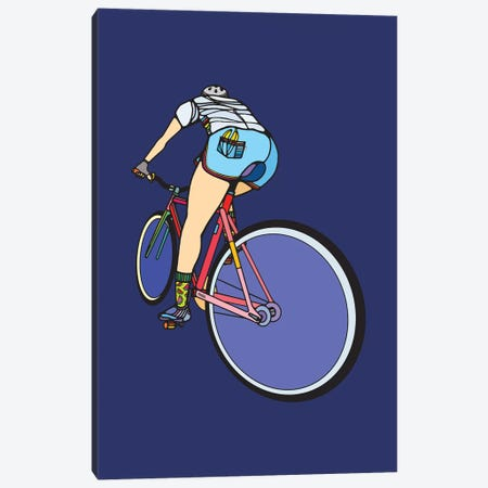 Free Cyclist Canvas Print #NIN109} by Ninhol Canvas Art