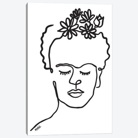 Frida Canvas Print #NIN111} by Ninhol Canvas Print
