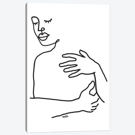 Hug Canvas Print #NIN115} by Ninhol Canvas Wall Art
