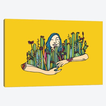 Hug A Xique Xique Canvas Print #NIN116} by Ninhol Canvas Wall Art