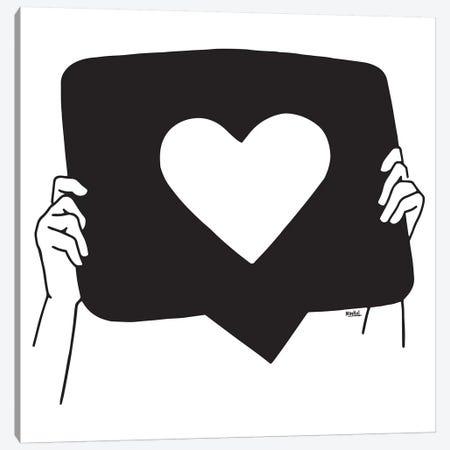 More Love Please Canvas Print #NIN128} by Ninhol Canvas Art