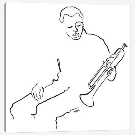 Mr Miles Canvas Print #NIN129} by Ninhol Canvas Artwork