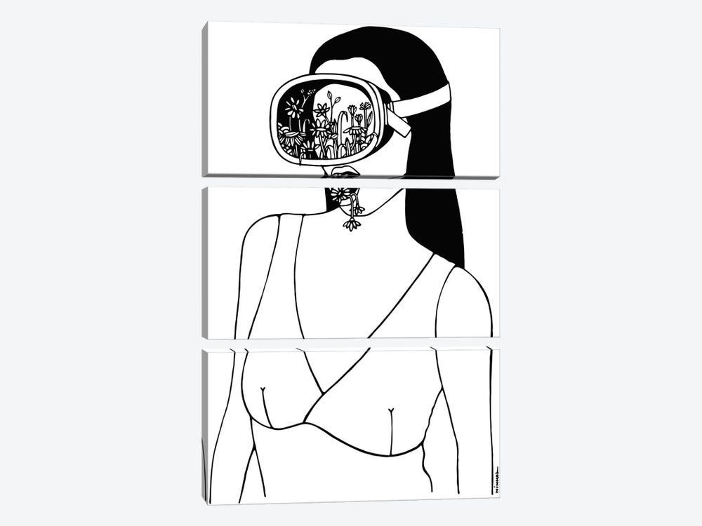 Breath by Ninhol 3-piece Canvas Art Print