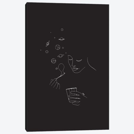 Playing With Bubbles Canvas Print #NIN140} by Ninhol Canvas Artwork