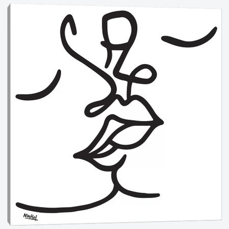 The Kiss Canvas Print #NIN144} by Ninhol Canvas Art Print