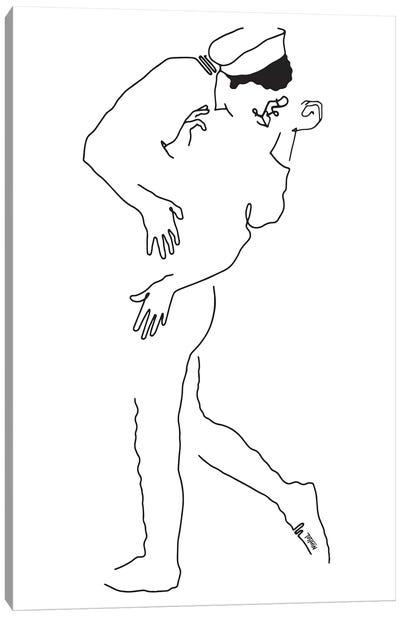 The Kissing Sailor Canvas Art Print