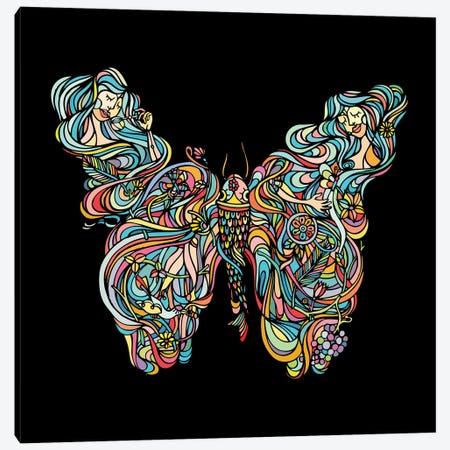 Butterfly Canvas Print #NIN14} by Ninhol Canvas Wall Art