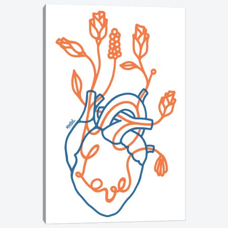 What About Love Canvas Print #NIN151} by Ninhol Canvas Art Print