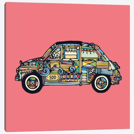 Fiat 500 Canvas Print #NIN20} by Ninhol Canvas Artwork