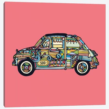 Fiat 500 Canvas Print #NIN20} by Ninhol Canvas Artwork