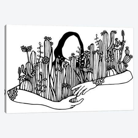 Give Your Plants A Hug Canvas Print #NIN27} by Ninhol Canvas Art Print